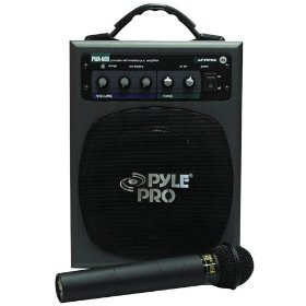 Pyle PWM-A600 100-WATT Battery Powered PA System with Wireless Mic