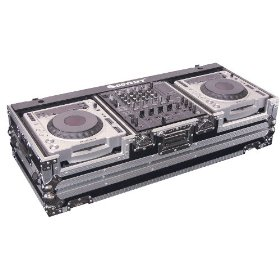Odyssey FZ12CDJW Flight Zone Dj Coffin With Wheels For A 12 Mixer And Top Large Format Cd Players