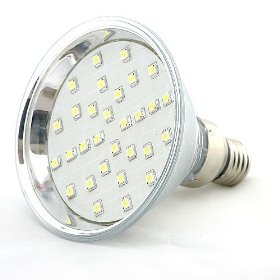 Brightest Par38 E26 Screw Base Flood Light with 42 SMD SMT LED Wide Angle Recess Can Light, 1314WH