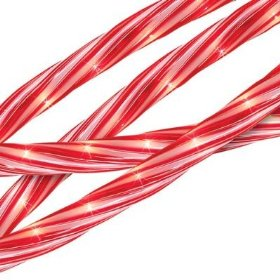 18' Candy Cane Inspired Indoor/Outdoor Christmas Rope Lights