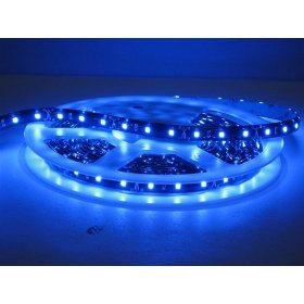 Flexible Lighting Strip 300 SMD LED Ribbon 5 Meter or 16.4 Ft 12 volt BLUE, 2026BU