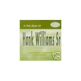 HANK WILLIAMS Sr Country Karaoke Classics CDG Music CD