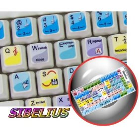 SIBELIUS KEYBOARD STICKER