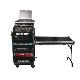 Odyssey FZGS1116WDLX Flight Zone Glide Style Ata Combo Case With Wheels And Side Table: 11u Top Slant, 16u Vertical