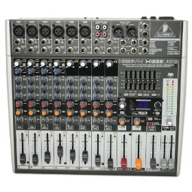 Brand New Behringer Xenyx X1222usb 16-input 2/2-bus Mixer with Xenyx Mic Preamps & Compressors, British Eqs, 24-bit Multi-fx Processor, Usb/audio Interface and Energyxt2.5 Compact Behringer Edition Music Production Software