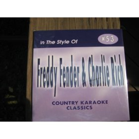 FREDDY FENDER + CHARLIE RICH Country Karaoke Classics CDG Music CD