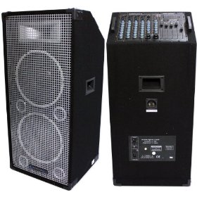 Brand New Technical Pro Stage-212u 3,000 Watts Powered Speaker + 8 Channel Mixer System + Usb/sd Card Player