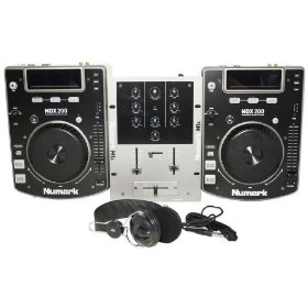 Brand New Numark Cd Dj in a Box Dj Package with (2) Cd Players, Mixer, and Dj Headphones
