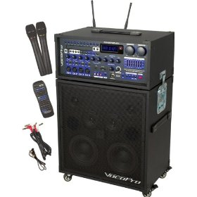 Champion RV 180W Multi-Format Portable P.A. System with Digital Reverb and 2 CH Wireless Mic System