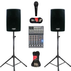 1 Pair of New Karaoke PA DJ Band 8