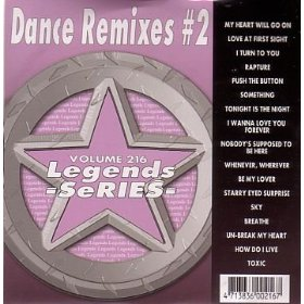 LEGENDS Karaoke CDG DANCE REMIXES #2 Music CD