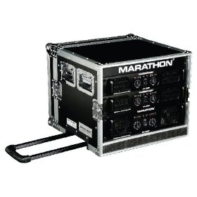 Marathon Flight Ready Case MA-8Uadhw 8U Amplifier Deluxe Case - 18-Inch Body Depth with Pull Out Handle & Wheels