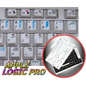 NEW APPLE LOGIC PRO STICKER FOR KEYBOARD ON WHITE BACKGROUND