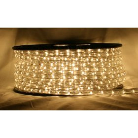 Warm white 66 FT 110V-120V LED Rope light Kit, 1.0
