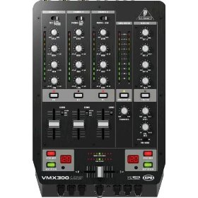 Behringer Pro Mixer VMX300USB Professional 3-Channel DJ Mixer with USB/Audio Interface