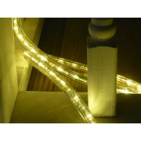 25Ft Rope Lights; 3Wires Warm White Chasing LED Rope Light Kit; Christmas Lighting; outdoor rope lighting