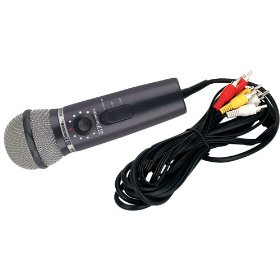 Plug N Sing MM205R DVD Plug 'N' Sing Microphone Karaoke System with 30 Karaoke Songs on DVD