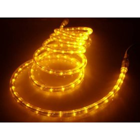 50Ft Rope Lights; Brilliant Amber LED Rope Light Kit; 1.0