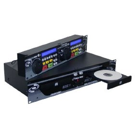 Pyle-Pro PDCD320MP Professional DJ Dual CD / MP3 Player with LCD Display, and Jog Wheels (19-inch Rack Mount)