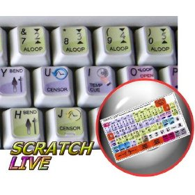 SERATO SCRATCH LIVE KEYBOARD STICKER FOR DESKTOP, LAPTOP AND NOTEBOOK