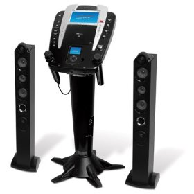 The Singing Machine iSM-1010 - Pedestal CD/CD+G Karaoke System w/ Built-in iPod Docking