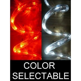 25Ft Color Selectable Rope Lights; vivid red and pure white LED Rope Light Kit; Christmas Lighting; outdoor rope lighting