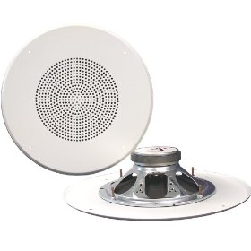Pure Resonance Audio 815W-GS Ceiling Speaker 15 Watt 8 Ohms 8 Inch Coax, Grille Mounting Screws