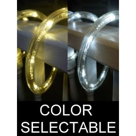 10Ft Color Selectable Rope Lights; warm white and pure white LED Rope Light Kit; Christmas Lighting; outdoor rope lighting