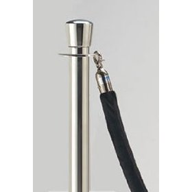 Black 6' Stanchion Rope with Satin Ends for Rope Style Crowd Control / Guidance Stanchion