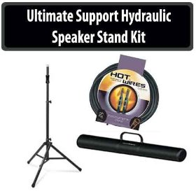 Ultimate Support Hydraulic Speaker Stand With Instrument Cable And Tote Bag