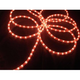 100' Pink Commercial Grade Christmas Rope Light On Spool