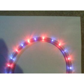 102 foot section of Blue/Red 1/2 inch rope light