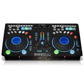 Technical Pro DMX-B1   2 Channel Double CD Player with Mixer (Black)