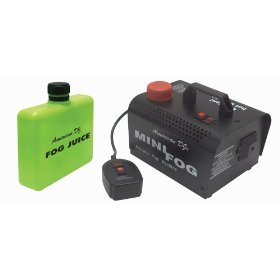 American DJ Mini Fog 400 W Fog Machine With Remote And Pint Of Fog Juice
