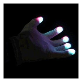 LED Gloves Multicolor LEDs - With Free Blinkee Light!