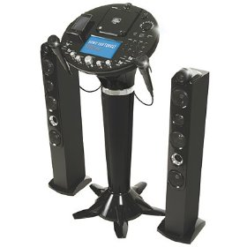 The Singing Machine iSM-1028 CDG Pedestal Karaoke System with 7