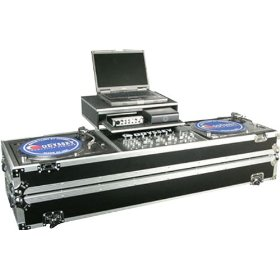 Odyssey FZGSDJ19W Flight Zone Glide Style Ata Dj Coffin With Wheels For A 19 Mixer & Two Turntables In Standard Position