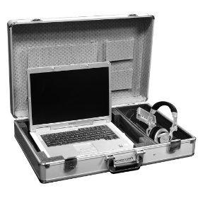 Marathon Elight Series MA-Elts Silver Laptop Case Holds Up To a 17-Inch Laptop with Side Storage for Accessories Color: Silver