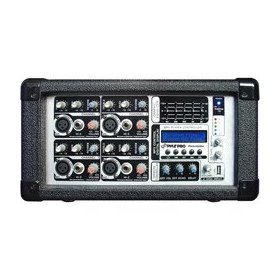 Pyle Pro PMX402M 4-Ch 400W Powered Mixer w/MP3 & USB Input