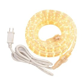 AmerTac RW24BAM 24-Feet 50-2/5-Watt White Rope Light Kit, Clear