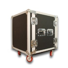 12 SPACE RACK CASE for Amp Effect Mixer PA/DJ PRO with Casters