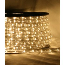 Warm white 90 FT 110V-120V LED Rope light Kit, 1.0