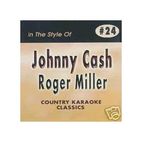 JOHNNY CASH & ROGER MILLER Country Karaoke Classics CDG Music CD