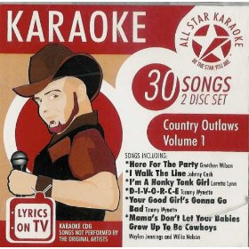ASK-46-R - All Star Karaoke - Country Outlaws: Volume 1