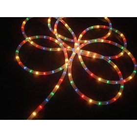 27' Multi-Color Indoor/Outdoor Christmas Rope Light Decoration - 8 Functions