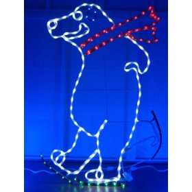 LED rope lights; Ice Skating Polar bear LED rope light motif; Christmas LED lights