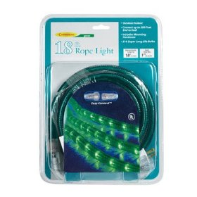CELEBRATIONS LIGHTING 2T4127A1 ROPE LIGHT 18' - GREEN