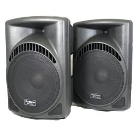 1 Pair of New 1800 Watts Band DJ PA Karaoke Active Powered 15