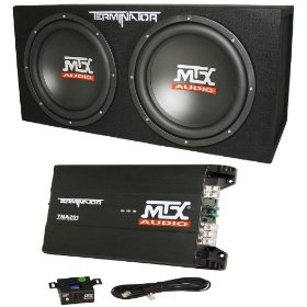 Brand New Mtx Audio Terminator Bass Package with Dual 12