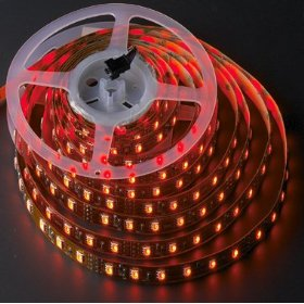 5M 16 ft Reel Flexible LED Ribbon 300 LEDs Red Strip W. 3M Tape, 2026RD